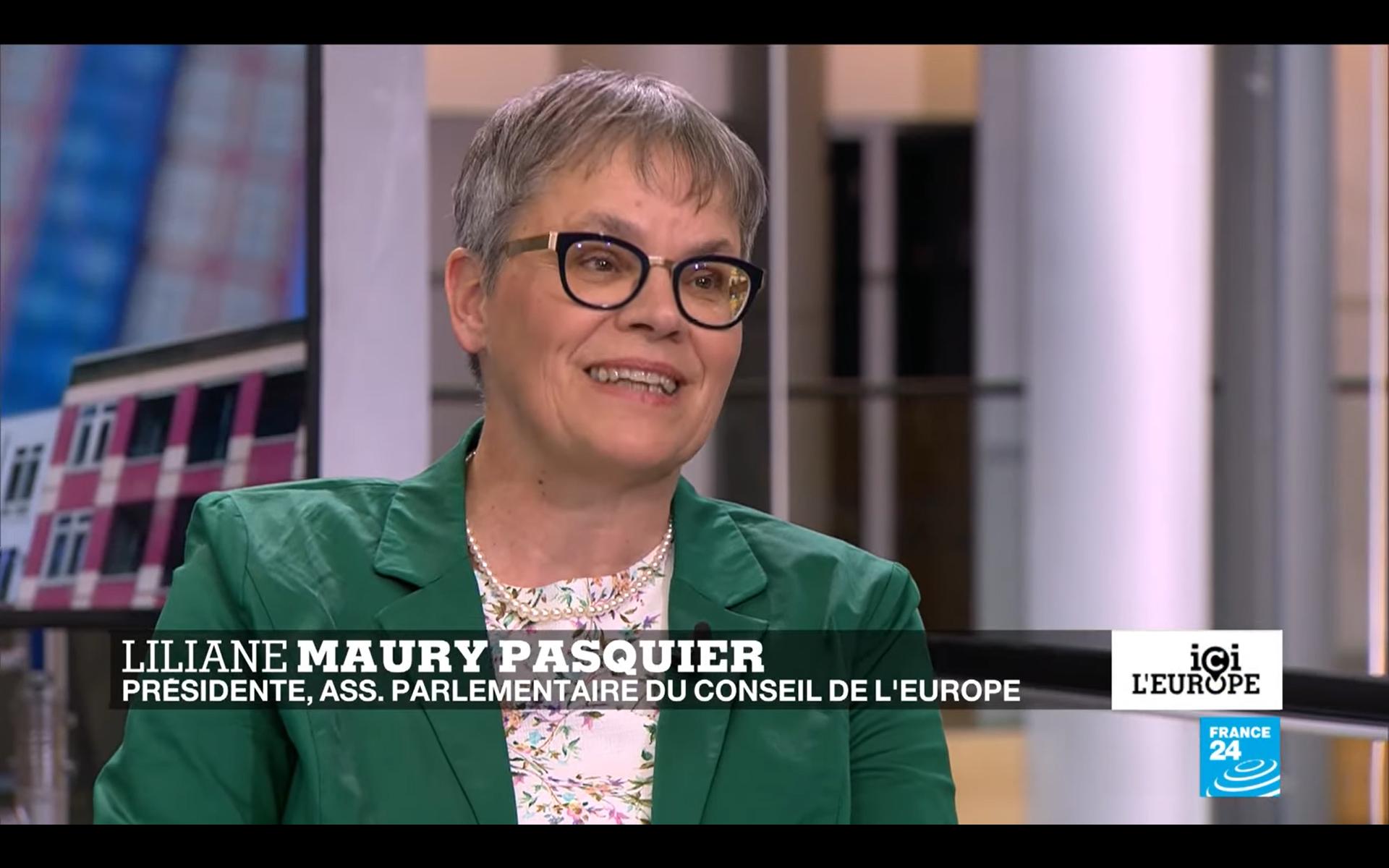 Liliane Maury Pasquier inteviewée sur le retour de la Russie à l'APCE